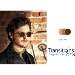 Tròng Kính Essilor Crizal Transitions Signature Gen8 Brown