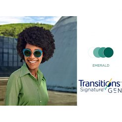 Tròng Kính Essilor Crizal Transitions Signature Gen8 Emerald