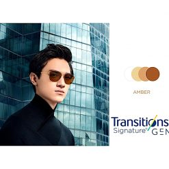 Tròng Kính Essilor Crizal Transitions Signature Gen8 Amber