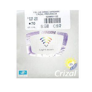 Tròng Kinh Essilor Crizal Prevencia 1.60 AS