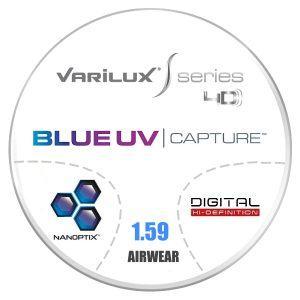Đa Tròng Essilor Varilux S Series 4D Blue UV 1.59 AS Airwear